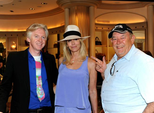 Philip Treacy, Dara Sowell and Robin Leach at Treacy's Spring ...