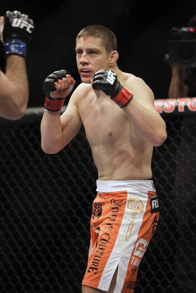 Duane Ludwig fights Josh Neer at UFC on FX 1 in Nashville, Tenn., on Jan. 21, 2012. Ludwig lost the fight by first-round submission.