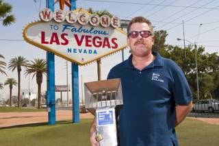 Ken Beckstead, the creator of the Butts Only Box, is bringing his invention to Las Vegas. His outdoor cigarette and cigar receptacles have been sucessful in California rest stops as well as on beaches up and down the state. May 10, 2012.