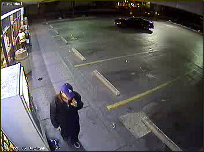 Metro Police are seeking this man accused of shooting a man outside a 7-Eleven early Thursday, May 10, 2012.