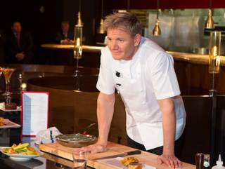 Gordon Ramsay Steak's cooking demonstration and press conference at the Paris on Friday, May 11, 2012.