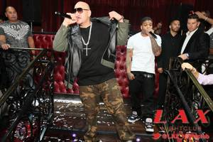 Fat Joe performs at LAX in the Luxor.