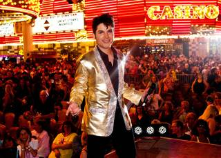 Victor Trevino Jr. won the Elvis Presley tribute artist contest during the 2012 Ultimate Elvis Weekend at Fremont Street Experience on Saturday, May 12, 2012.