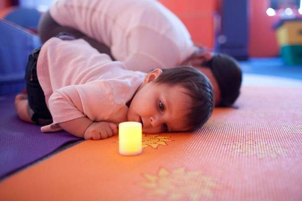 Kidville's yoga classes for children and mothers.