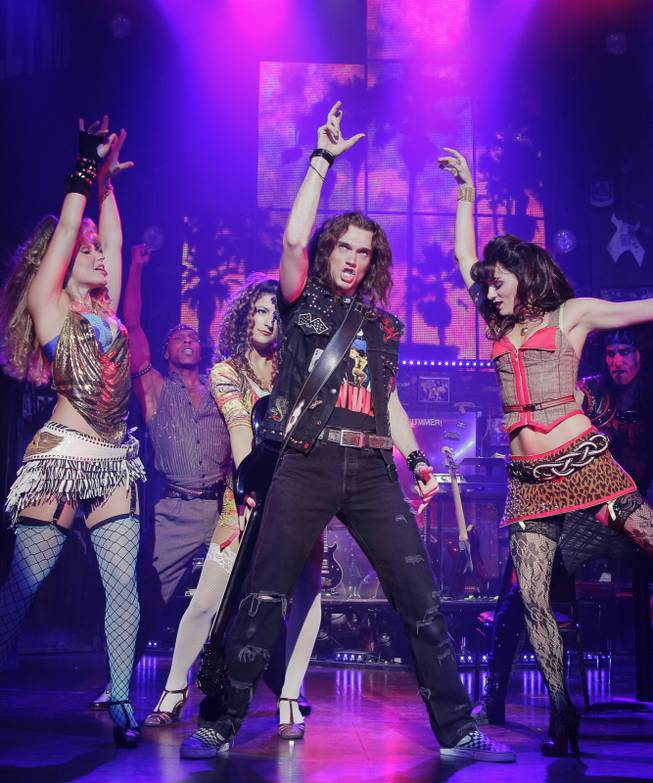 """Rock of Ages"" on Broadway."