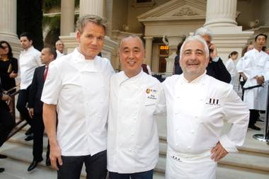 It will be a set of opening-day celebrations for chef Gordon Ramsay when he's back on the Strip in mid-December. We've already revealed that he'll ...
