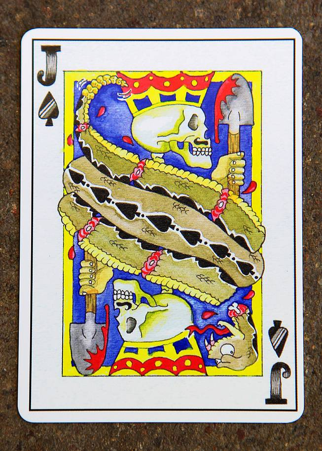 "This is one of the cards that was included in ""Stack the Deck"" to benefit Three Square Saturday, May 12, 2012."