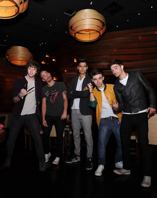 Jay McGuiness, Max George, Siva Kaneswaran, Nathan Sykes and Tom ...
