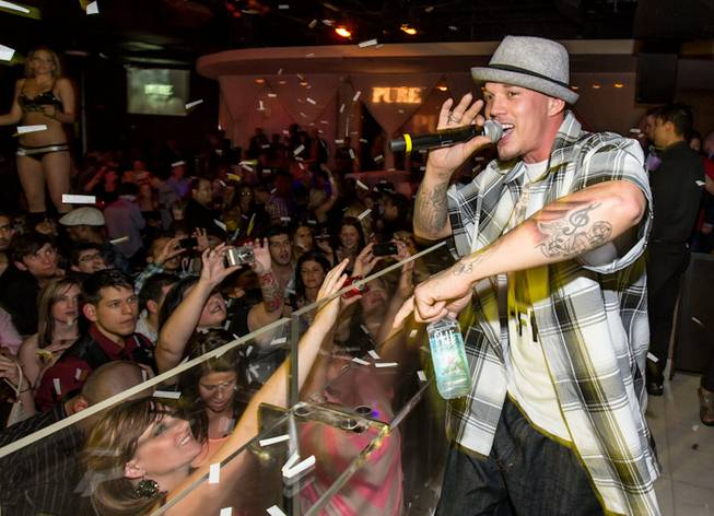 Chris Rene hosts and performs at Pure in Caesars Palace on Tuesday, May 15, 2012.