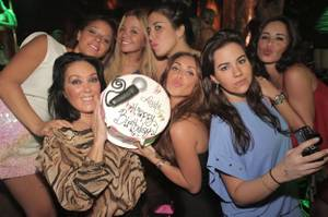 Anahi celebrates her birthday with friends at XS.