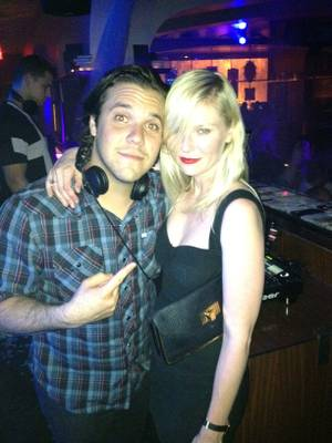 DJ DiJiTAL and Kirsten Dunst at Hyde Bellagio on Saturday, May 19, 2012.
