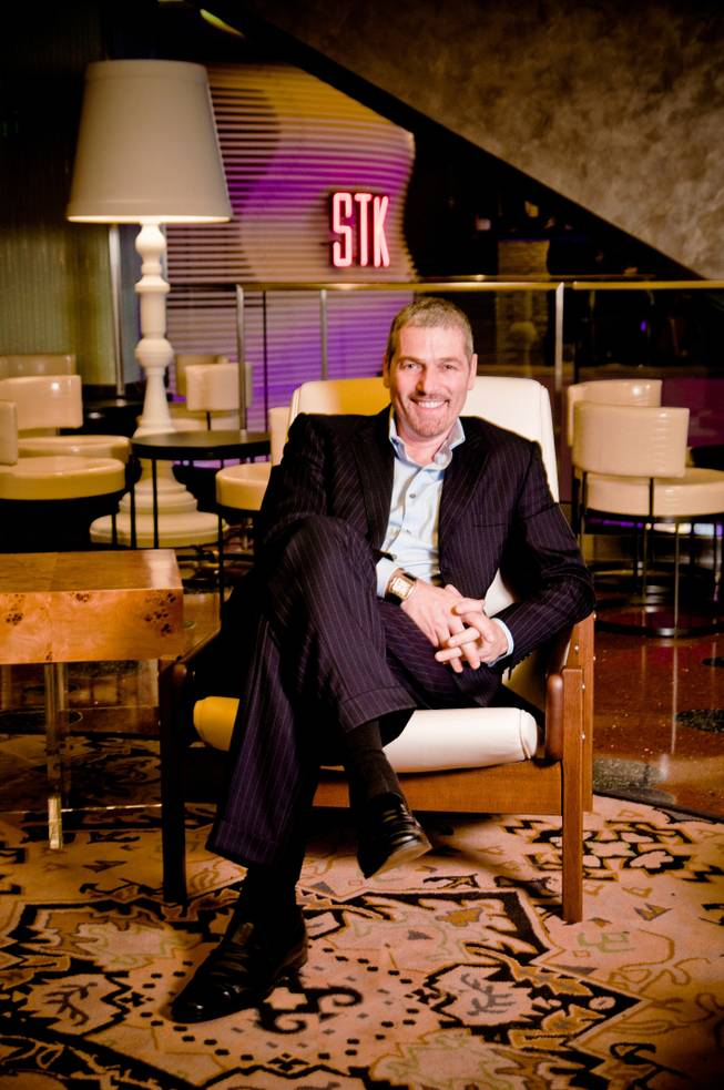 Jonathan Segal, shown outside STK at The Cosmopolitan of Las Vegas, his company's first Las Vegas venue.