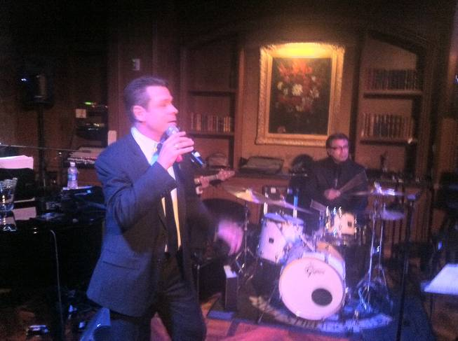 Mark OToole sings as Gabriel Falcone does not as the Stirling Club at Turnberry Place closes.