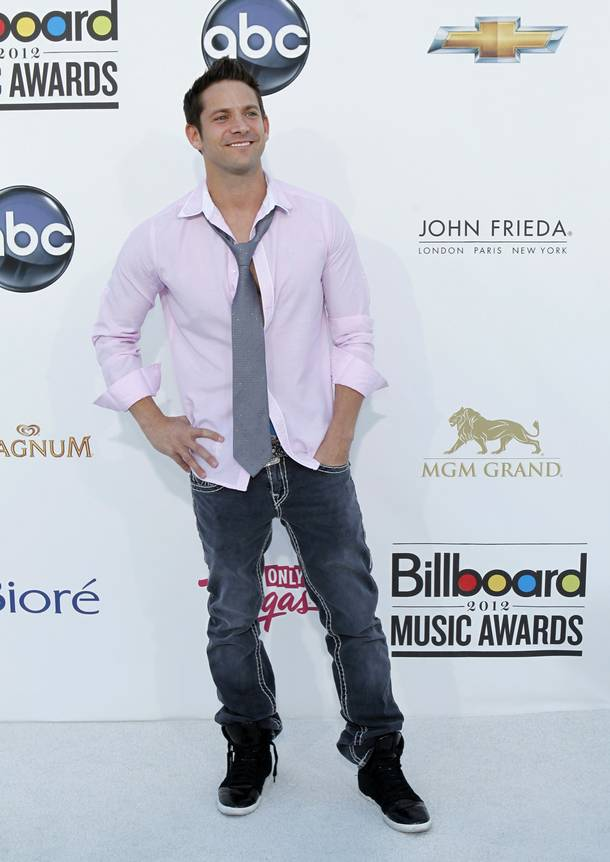 Singer Jeff Timmons arrives for the 2012 Billboard Music Awards show at the MGM Grand Garden Arena Sunday, May 20, 2012.
