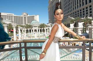 2012 Miss Michigan USA Kristen Samantha Danyal at a photo shoot at Caesars Palace on Sunday, May 20, 2012.