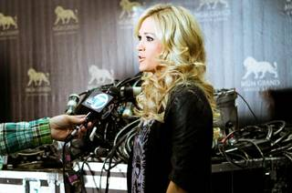 Carrie Underwood at the 2012 Billboard Music Awards rehearsals at MGM Grand Garden Arena on Saturday, May 19, 2012.