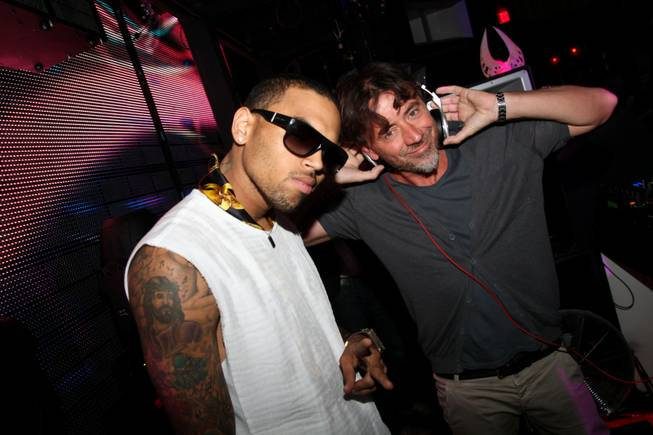 Chris Brown and Benny Benassi at Marquee in The Cosmopolitan of Las Vegas on Friday, May 18, 2012.