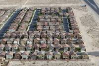 An aerial view of a neighborhood in the southwest part of the Las Vegas Valley taken from a helicopter May 21, 2012.
