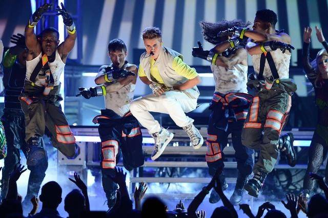 Justin Bieber performs during the 2012 Billboard Music Awards at MGM Grand Garden Arena on Sunday, May 20, 2012.