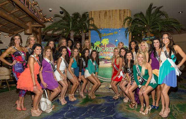2012 Miss USA Pageant contestants at Margaritaville casino in the ...