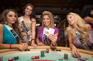 2012 Miss USA Pageant contestants at Margaritaville casino in the Flamingo on Monday, May 21, 2012.
