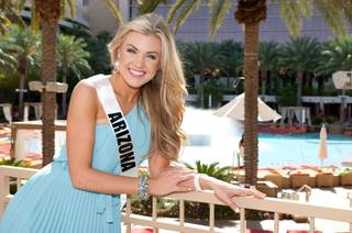Miss Arizona USA 2012 Erika Lane Frantzve at Red Rock Resort on Tuesday, May 22, 2012.