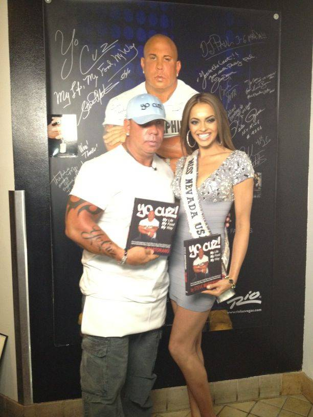 Steve Martorano and 2012 Miss Nevada USA Jade Kelsall at Cafe Martorano in the Rio on Monday, May 21, 2012.