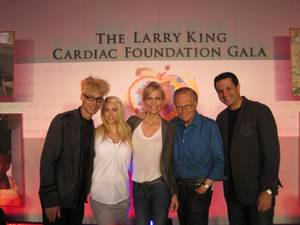 "Murray Sawchuck, Chloe Louise, Shawn Southwick King, Larry King and Doug ""Lefty"" Leferovich."