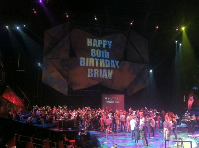 "The ""Mystere"" stage at Treasure Island for Brian Dewhurst's 80th birthday Tuesday, May 22, 2012."