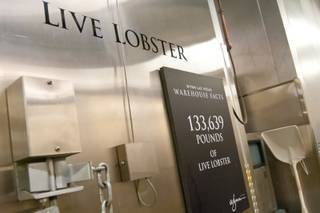 Behind the scenes at Wynn Las Vegas, where thousands of live seafood, including lobsters, prawns and crab, are kept on hand for its restaurants, May 24, 2012.