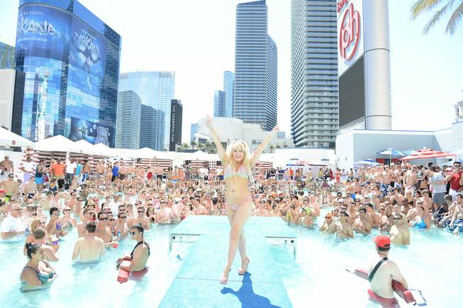 The 2013 Pleasure Pool Bikini Contest at Planet Hollywood on ...