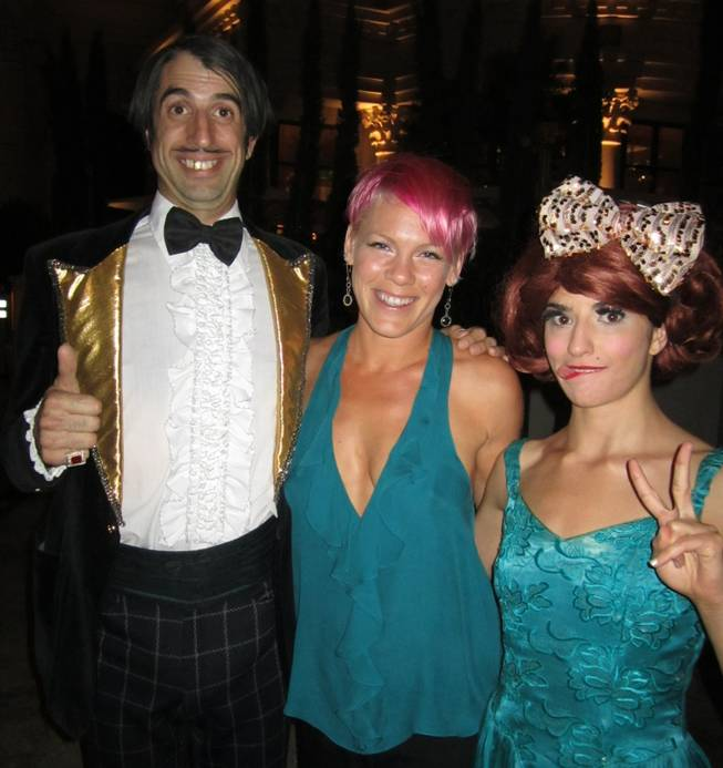 "The Gazillionaire, Pink and Penny Pibbets at ""Absinthe"" at Caesars Palace on Thursday, May 24, 2012."