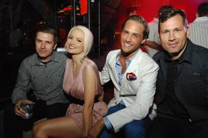 Pasquale Rotella, Holly Madison, Josh Strickland and DJ Kaskade celebrate Memorial Day Weekend at Bazaar at Chateau Nightclub & Gardens in the Paris on Friday, May 25, 2012.