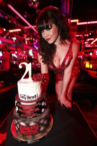 Claire Sinclair celebrates her 21st birthday at Crazy Horse III on Saturday, May 26, 2012.
