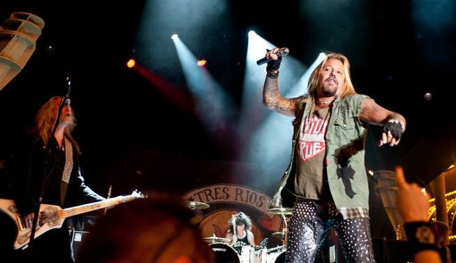 Vince Neil performs at Fremont Street Experience in downtown Las Vegas on Saturday, May 26, 2012.