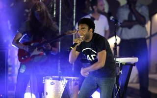 Childish Gambino performs at Boulevard Pool in The Cosmopolitan of Las Vegas on Sunday, May 27, 2012.