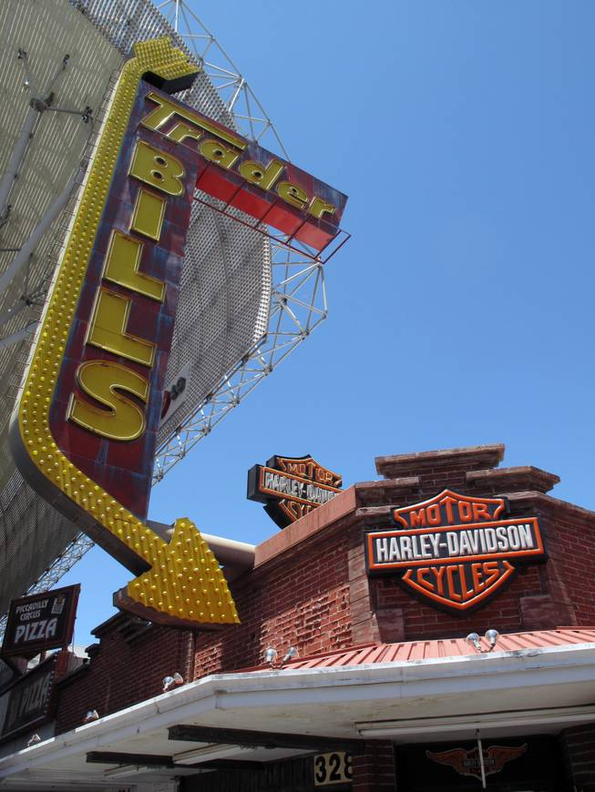 A view of Trader Bills at the Fremont Street Experience as seen on Sunday, May 27, 2012.