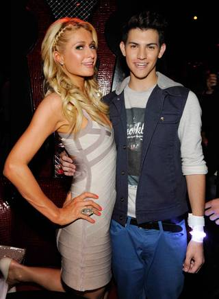 Paris Hilton and Nick Hissom at Tryst in Wynn Las Vegas on Sunday, May 27, 2012.