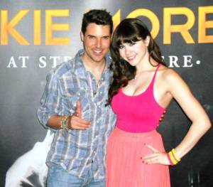 Frankie Moreno and Claire Sinclair at the Stratosphere.