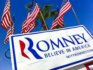 Hundreds of supporters turned out to hear presidential hopeful Mitt Romney speak at a local business, Tuesday May 29, 2012.