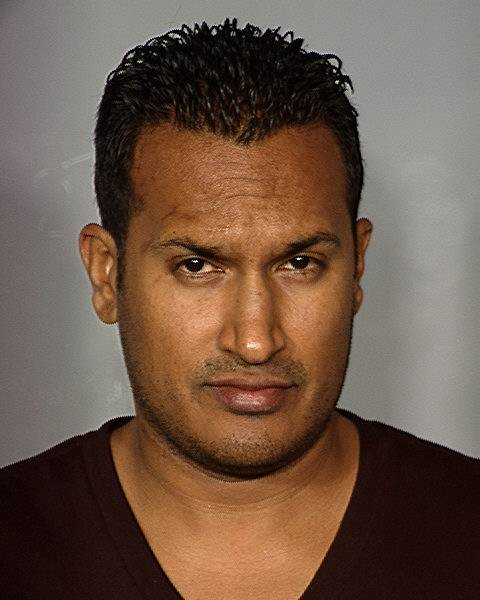 Mug shot of Praveen Chandra, who was arrested for battery domestic violence, according to Metro Police, May 29, 2012.