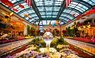 The Bellagio Conservatory and Gardens' East Coast summer-inspired exhibit photographed Wednesday, May 30, 2012.