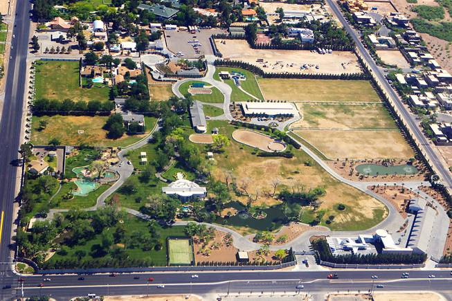 This is an aerial view of Wayne Newton's Casa de Shenandoah estate Monday, May 21, 2012.