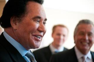 Wayne Newton speaks to reporters after a court hearing on Thursday, May 31, 2012.