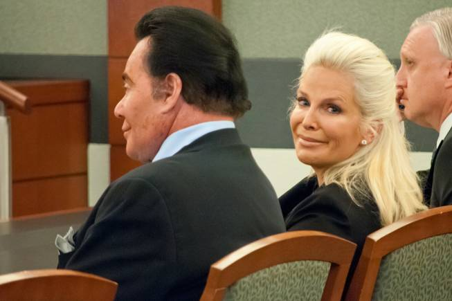 Wayne Newton and his wife, Kathleen McCrone, appeared in court to file a restraining order against his landlord Steve Kennedy on Thursday, May 31, 2012.
