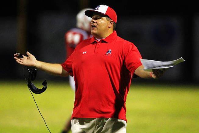 Liberty High School football coach Rich Muraco during the 2011 season.