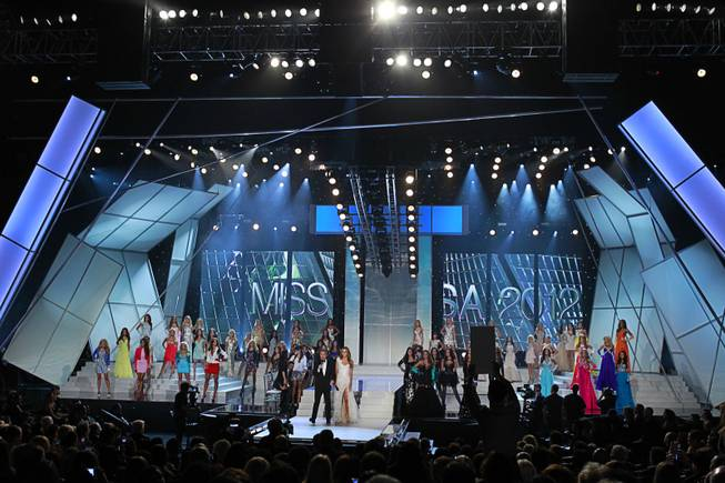 The 2012 Miss USA Pageant at Planet Hollywood on Sunday, June 3, 2012.