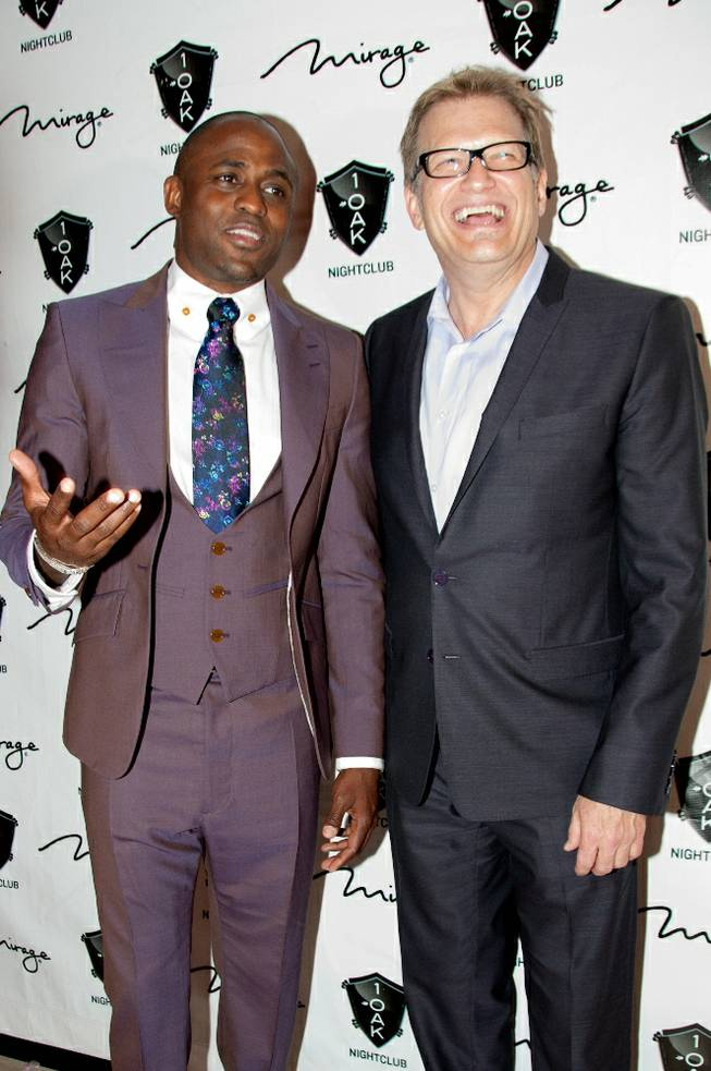 Wayne Brady, with Drew Carey, celebrates his 40th birthday at 1 OAK in The Mirage on Saturday, June 2, 2012.