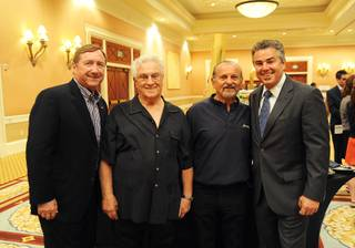 Rossi Ralenkotter, Tommy DeVito, Joe Pesci and Christopher Knight at the Breath of Life Celebrity Golf Classic pairings party at Caesars Palace on Sunday, June 3, 2012.