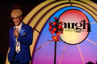 Headliner magician Murray Sawchuck celebrates his first anniversary at the Tropicana with wife and onstage assistant Chloe Crawford and sidekick Doug